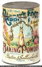 Rabbit's Foot Baking Powder Tin