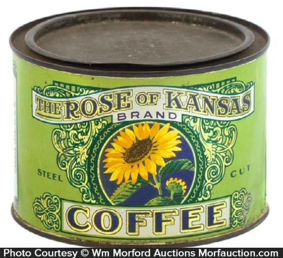 Rose Of Kansas Coffee Can