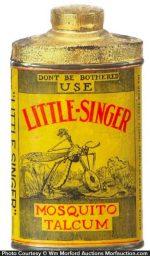 Little Singer Mosquito Talcum Tin