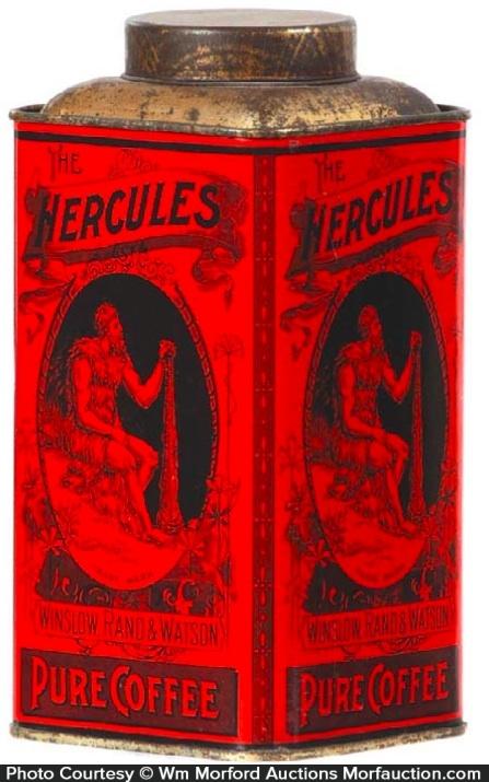 Hercules Coffee Tin