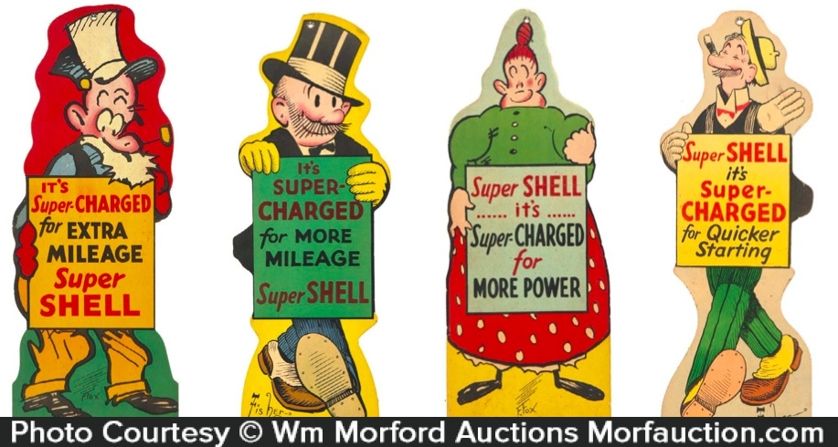 Super Shell Oil Signs