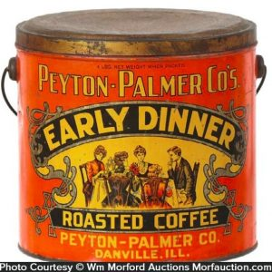 Early Dinner Coffee Pail