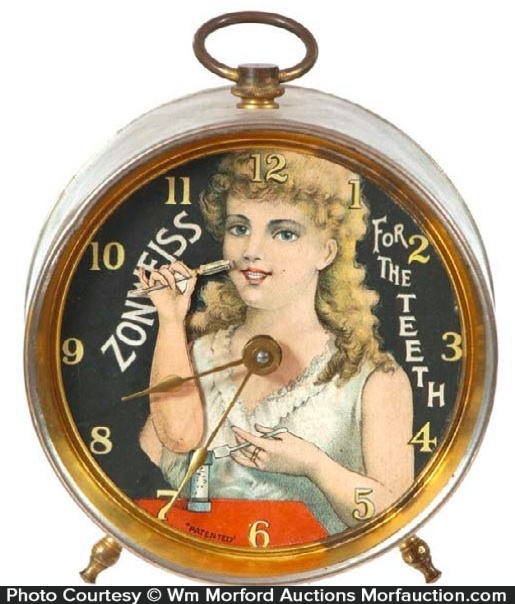 Zonweiss Tooth Powder Clock