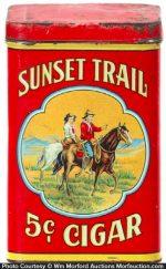 Sunset Trail Cigar Can