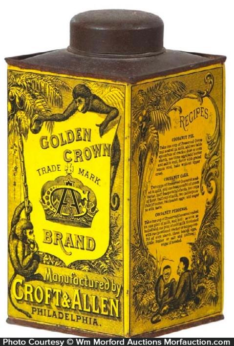 Golden Crown Cocoanut Tin