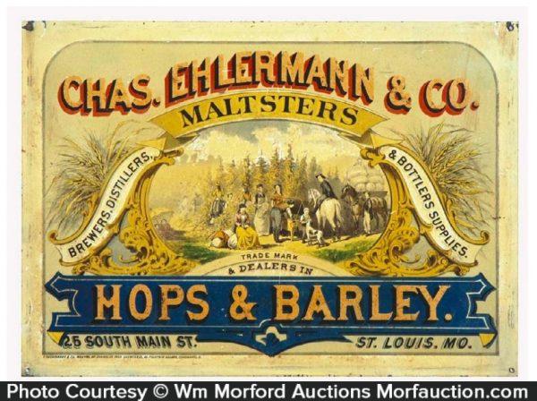 Ehlermann & Co. Maltsters Sign