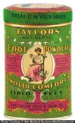 Taylor's Foot Powder Tin