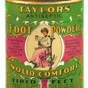 Taylor's Foot Powder Tin