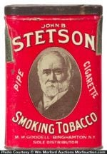 Stetson Tobacco Tin