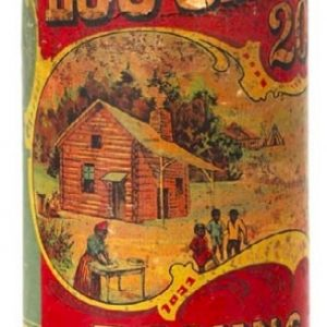 Log Cabin Baking Powder Tin
