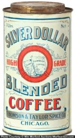 Silver Dollar Coffee Tin