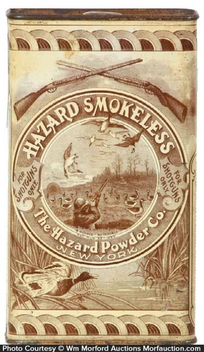 Hazard Gunpowder Tin
