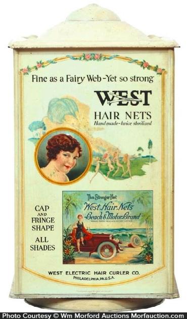 West Hair Nets Display