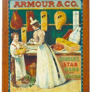 Armour & Co. Start Hams Sign