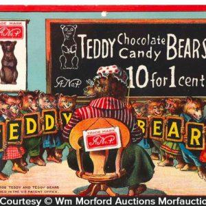 Teddy Bears Chocolate Candy Sign