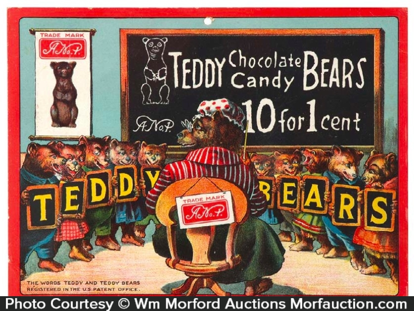 Teddy Bears Chocolate Candy Sign
