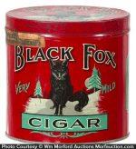 Black Fox Cigar Can