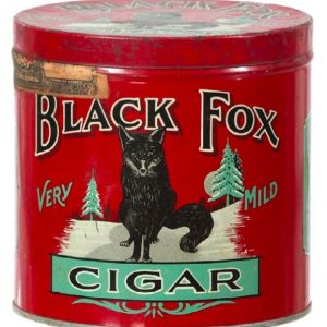 Black Fox Cigar Can