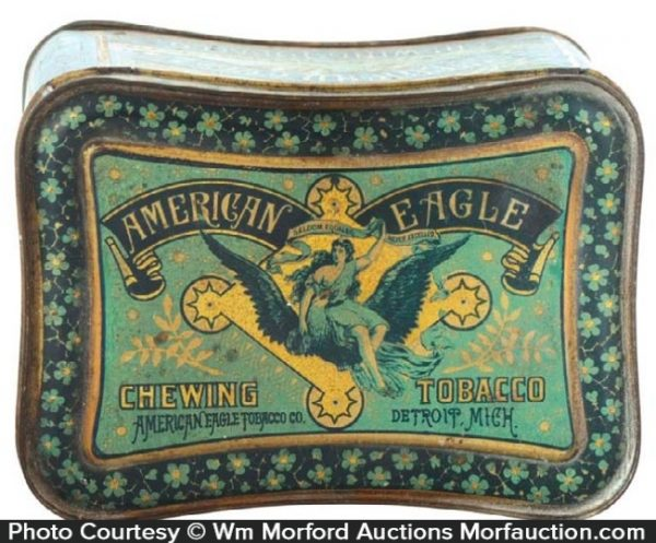 American Eagle Tobacco Tin