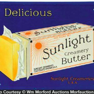 Sunlight Butter Sign