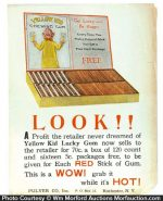 Yellow Kid Gum Broadside