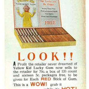 Yellow Kid Gum Broadside