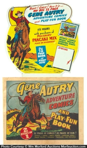 Gene Autry Comic Book Display