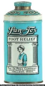 San-Tox Foot Relief Tin