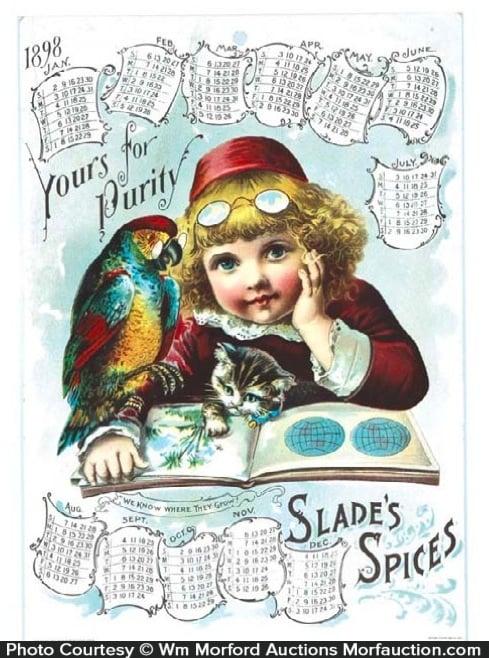 Slade's Spices Calendar