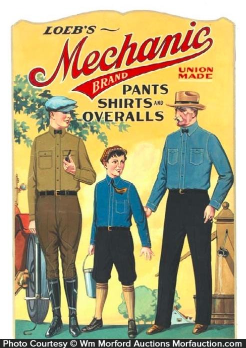 Mechanic Pants and Overalls Sign