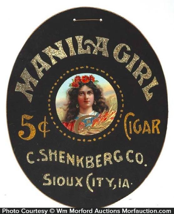 Manila Girl Cigar Sign