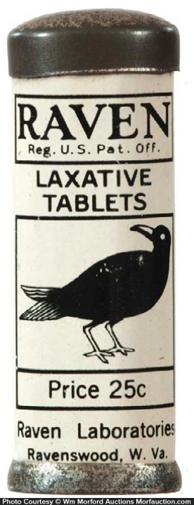 Raven Laxative Tablets Tin