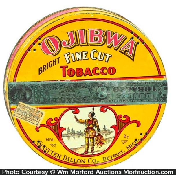 Ojibwa Tobacco Tin