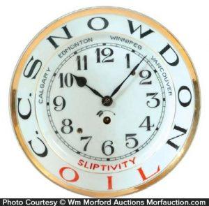 Snowdon Sliptivity Oil Clock