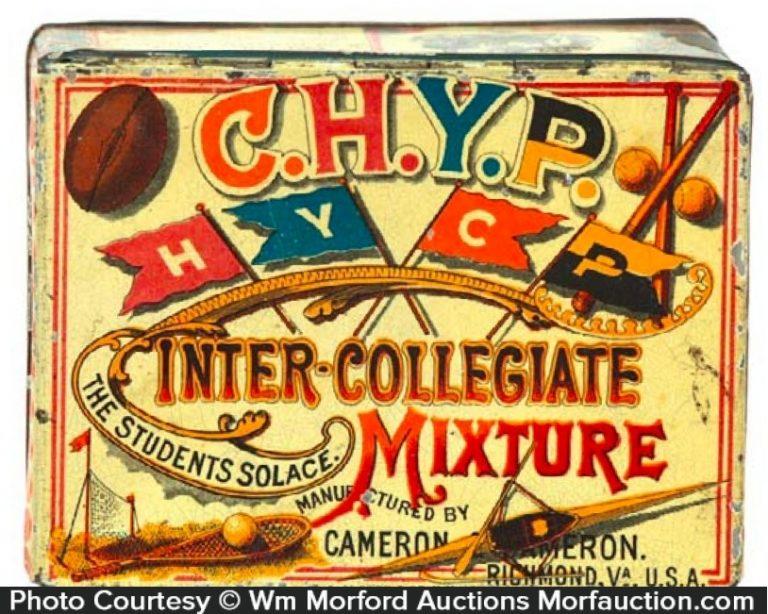 C.H.Y.P. Inter-Collegiate Tobacco Tin