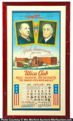 West End Utica Club Beer Calendar