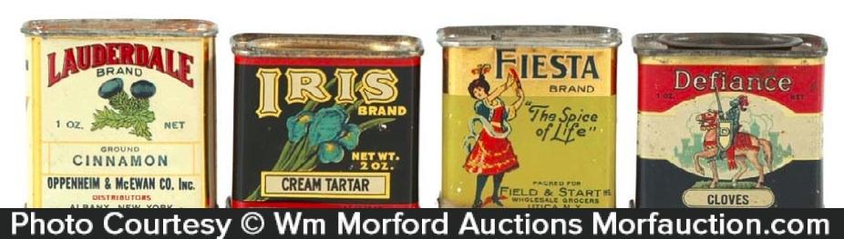 Vintage Miniature Spice Tins