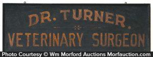 Dr. Turner Veterinary Surgeon Sign