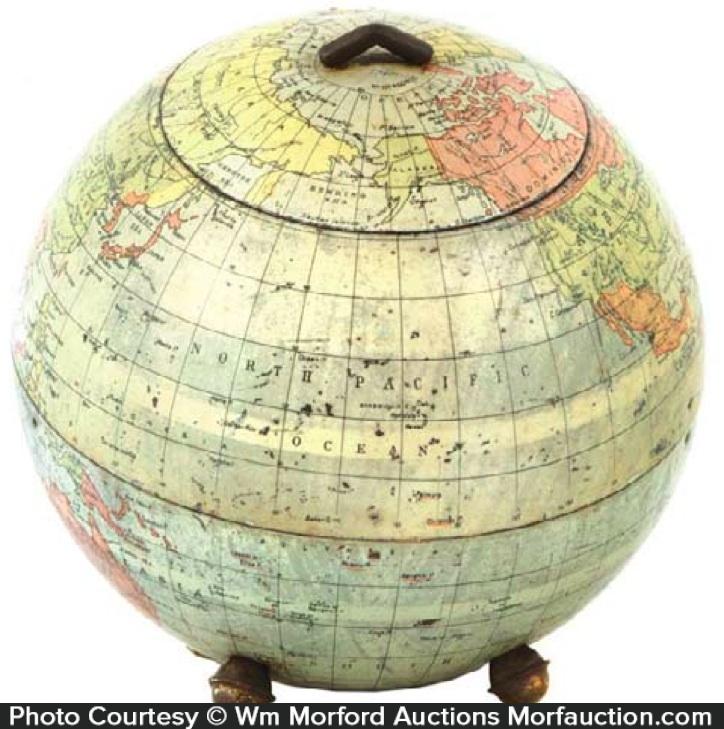 Huntley & Palmers Globe Biscuit Tin