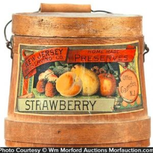 Strawberry New Jersey Preserves Firkin