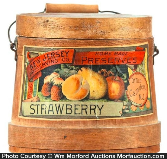 Strawberry New Jersey Preserves Firkin