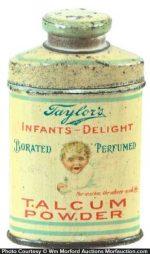 Taylor's Talcum Powder Sample Tin