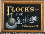 Flock's Stock Lager Sign