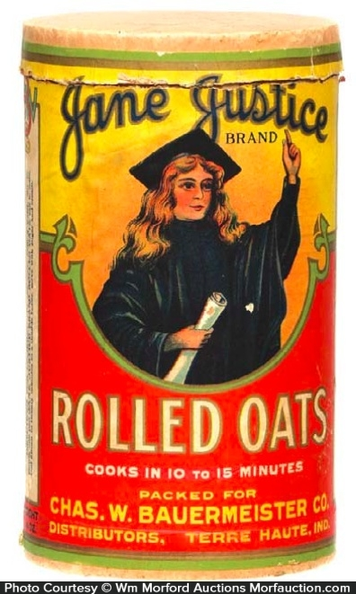 Jane Justice Oats Box