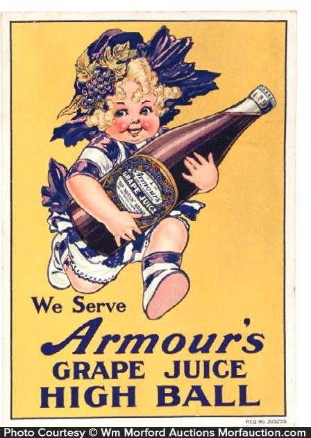 Armour's Grape Juice Sign