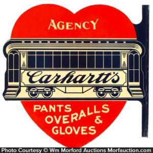 Carhartt's Overalls Sign