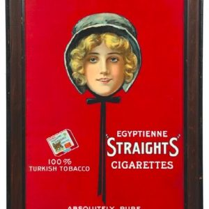 Egyptienne Straights Cigarettes Sign