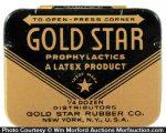 Gold Star Condom Tin