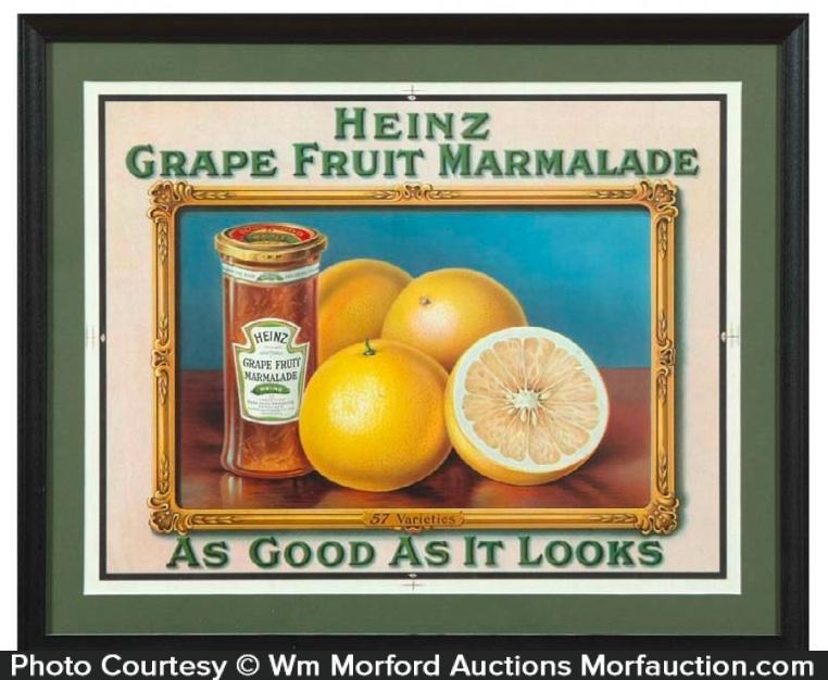 Heinz Grape Marmalade Sign