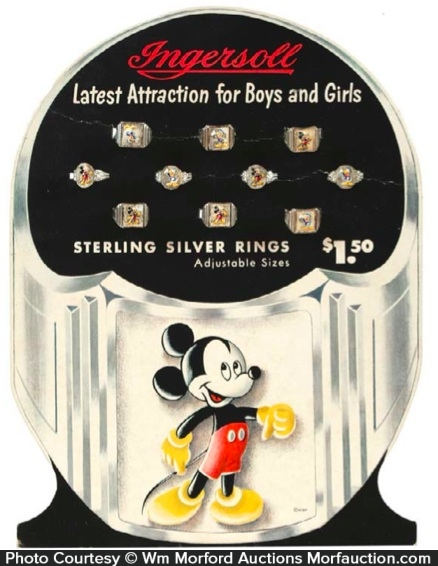 Ingersoll Rings Mickey Mouse Display